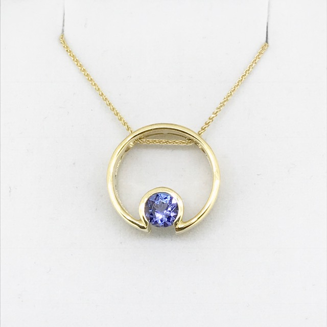 18k tanzanite pendants cambanos 18k tanzanite pendants aloadofball Gallery
